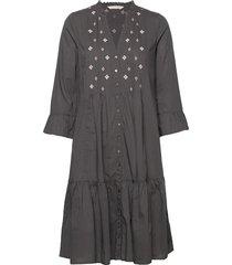 kayla dress knälång klänning grå odd molly