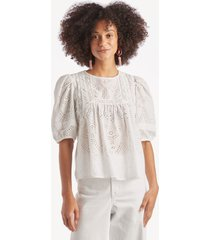 sanctuary women's meadow view top in color: white jasmine size xs from sole society