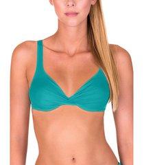 bikini lisca gran canaria green underwired swimsuit top