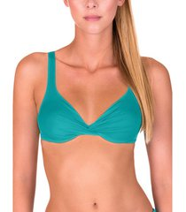 bikini lisca gran canaria green underwired swimsuit top