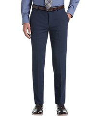awearness kenneth cole awear-tech blue slim fit dress pants