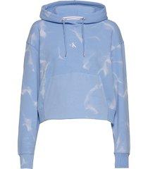 lava dye cropped hoodie hoodie blå calvin klein jeans