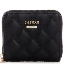 guess cessily small zip-around wallet