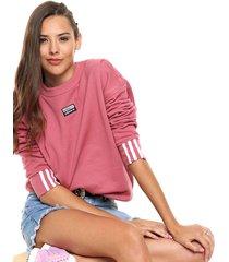 buzo  rosa adidas originals sweatshirt