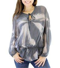 blusa gris almacén de paris