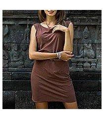 cotton dress, 'chocolate ocean' (indonesia)