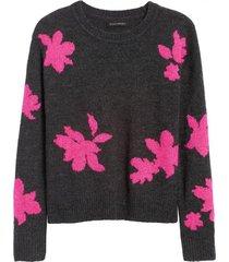 sweater floral gris banana republic