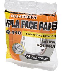 fita adesiva dupla face adelbras de papel 18mmx30m