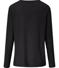 trui van 100% kasjmier met v-hals van include zwart