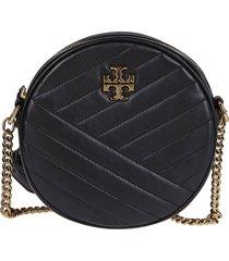 tory burch black leather kira crossbody bag
