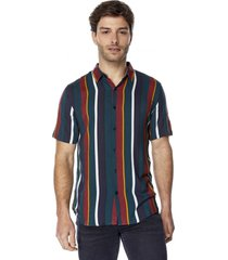 camisa i rayas petróleo corona