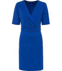 abito con cintura (blu) - bodyflirt