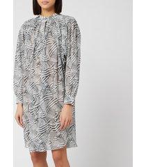 isabel marant women's erika dress - ecru/black - fr 34/uk 6