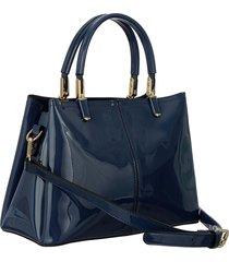 bolsa fedra f6541 azul - azul marinho - feminino - dafiti