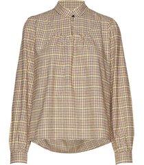 kellisiw blouse blouse lange mouwen beige inwear