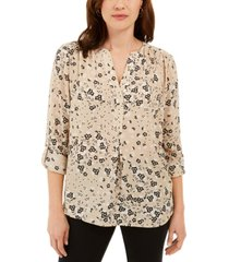 charter club maria floral-print blouse, created for macy's