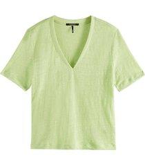 t-shirt linnen groen