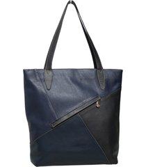 bolsa allegra bolsas sacola em couro azul marte