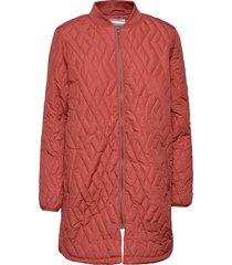 sc-fenya doorgestikte jas rood soyaconcept