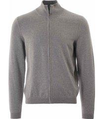 boss green zip through sweatshirt  grey 50328194-059