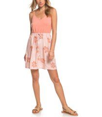 roxy juniors' moon mouth strappy printed dress