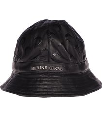 marine serre moon leather bell hat regenerated