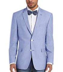 tommy hilfiger blue chambray slim fit sport coat