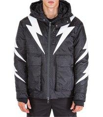 men's outerwear jacket blouson hood tigerbolt