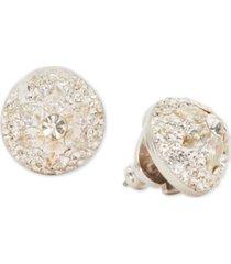 kate spade new york crystal flower dome stud earrings