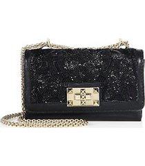 beaded leather purse
