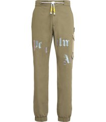 palm angels cotton cargo-trousers