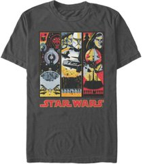 star wars men's the phantom menace panel short sleeve t-shirt