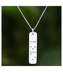 sterling silver pendant necklace, 'love dots' (thailand)
