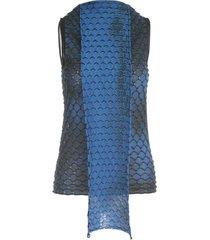 pierantoniogaspari jacquard sleeveless sweater w/scarf