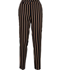 &co woman pantalon stockholm stripe zwart