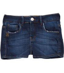 shorts john john denton moletom jeans azul feminino (jeans escuro, 50)