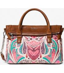 printed briefcase bag - red - u