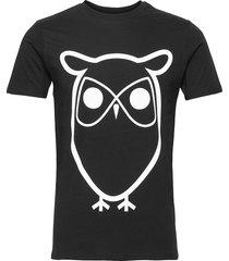 alder basic owl tee - gots/vegan t-shirts short-sleeved svart knowledge cotton apparel