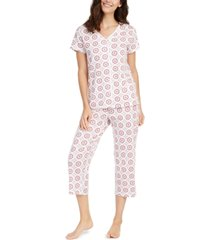 charter club cotton short-sleeve top & capri pajama pants set, created for macy's