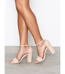 nly shoes block heel sandal high heel dusty pink