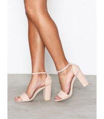 nly shoes block heel sandal high heel dusty pink
