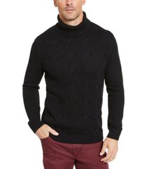 tasso elba men's chunky turtleneck sweater, created for macy's