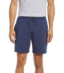 men's vineyard vines men's tie waist knit shorts, size xx-large - blue