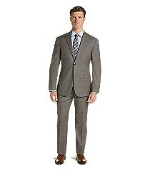 1905 collection tailored fit glen plaid men's suit with brrr°® comfort clearance by jos. a. bank