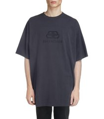 men's balenciaga longline logo t-shirt