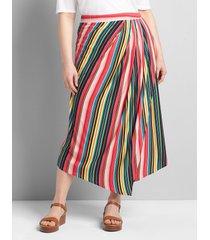lane bryant women's asymmetrical pull-on midi skirt 18 multi stripe