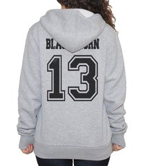 blackthorn 13 on back only hoodie s to 3xl light steel