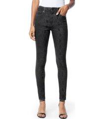 joe's jeans charlie snake-embossed skinny ankle jeans
