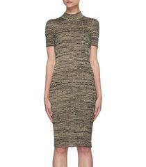 'electra' mottle silk knit bodycon dress