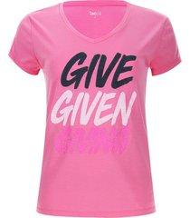 camiseta descanso give color rosado, talla xs